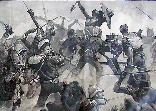 Royal Navy Gardner Gun detachment at the Battle of El Teb on 29th February 1884 in the Sudanese War