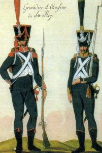 Carabinier and Voltigeur of the 16th Light: Battle of the Pyrenees fought between 25th July and 2nd August 1813 in the western Pyrenees Mountains, during the Peninsular War