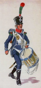 French Light Infantry Drummer: Battle of the Pyrenees fought between 25th July and 2nd August 1813 in the western Pyrenees Mountains, during the Peninsular War