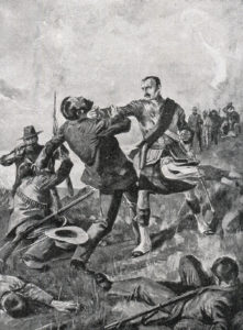 'Fighting Mac' Macdonald at the Battle of Majuba Hill on 27th February 1881 in the First Boer War