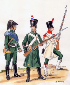 French National Guard: Battle of the Pyrenees fought between 25th July and 2nd August 1813 in the western Pyrenees Mountains, during the Peninsular War
