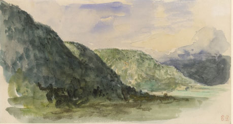 Pyrenees Mountains by Delacroix: Battle of the Pyrenees fought between 25th July and 2nd August 1813 in the western Pyrenees Mountains, during the Peninsular War