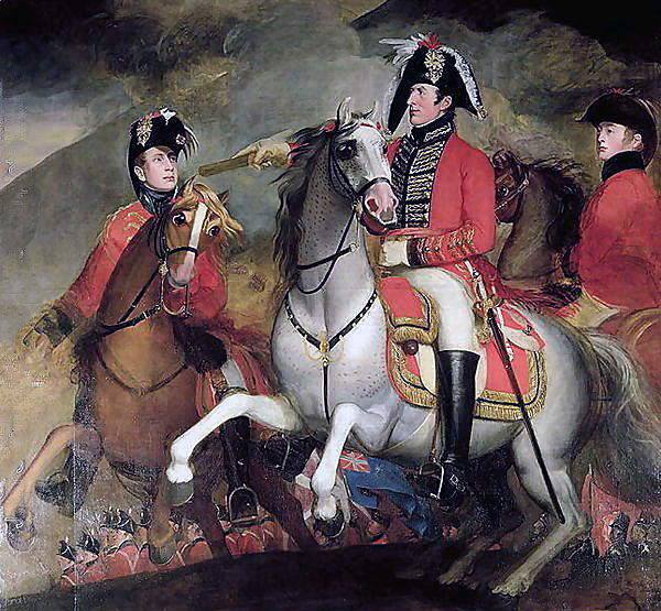 Wellington at the Battle of the Pyrenees fought between 25th July and 2nd August 1813 in the western Pyrenees Mountains, during the Peninsular War: picture by John Singleton Copley