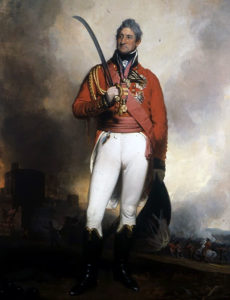 General Thomas Picton, commander of the British Third Division at the Storming of Badajoz on 6th April 1812 in the Peninsular War