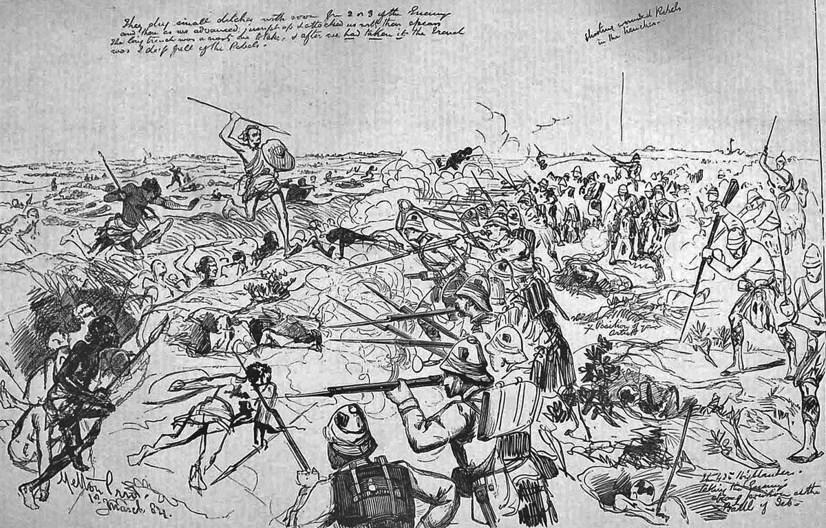 Battle of El Teb on 29th February 1884 in the Sudanese War: picture by Melton Pryor