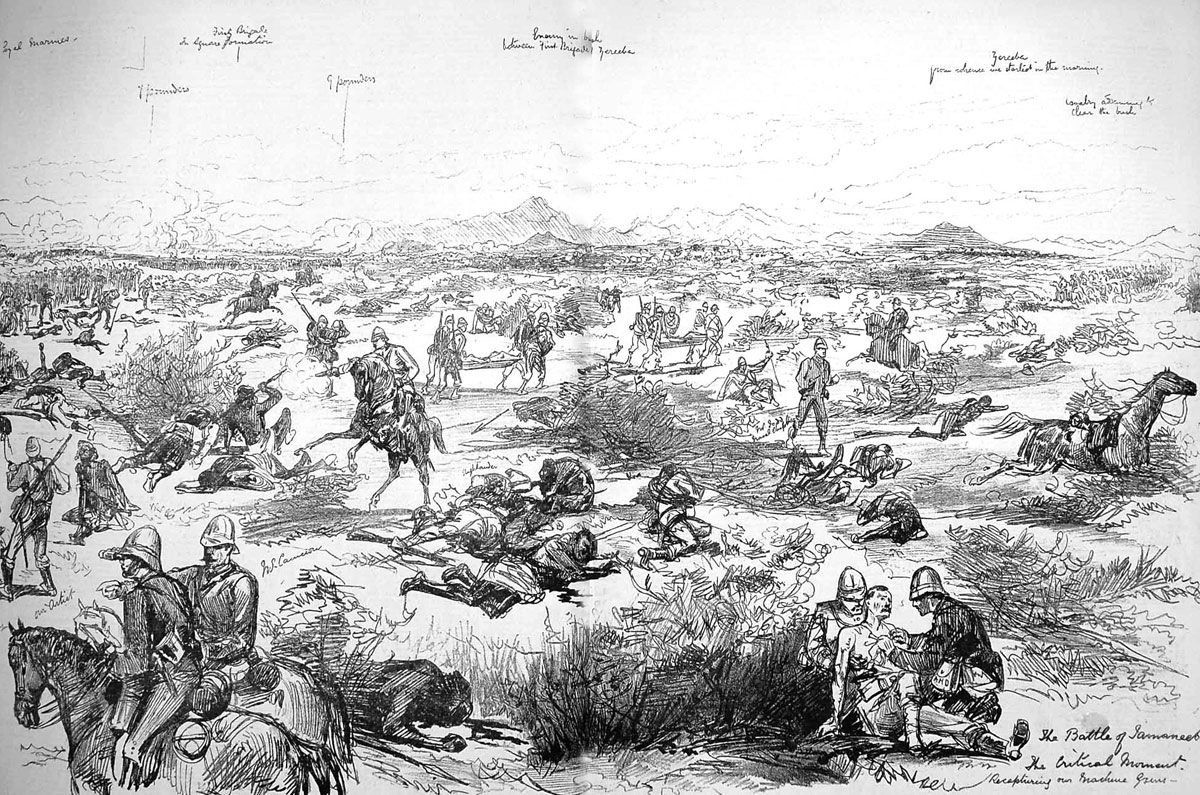 After the Battle of Tamai on 13th March 1884 in the Sudanese War: picture by Melton Pryor