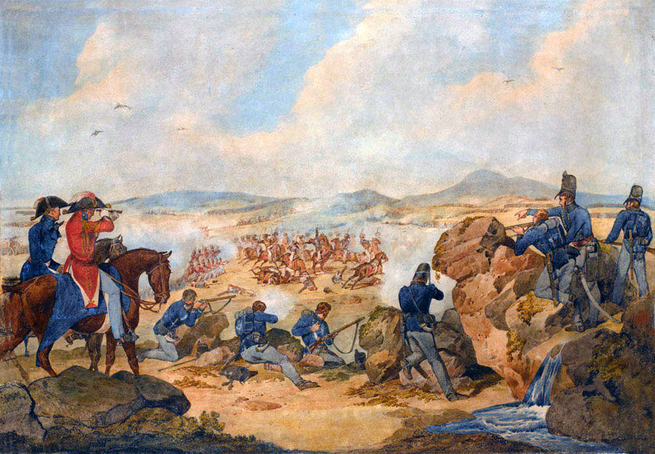 95th Rifles in action: Battle of San Marcial 31st August-1st September 1813 in the Peninsular War