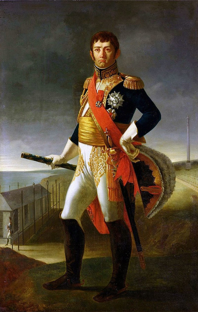 Marshal Soult, French commander at the Battle of the Bidassoa on 7th October 1813 during the Peninsular War: picture by de Rudder