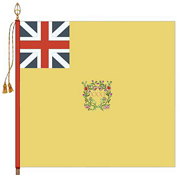 Regimental Colour of the 31st Regiment: Battle of St Pierre on 13th December 1813 during the Battle of the Nive from 9th to 13th December 1813 in the Peninsular War