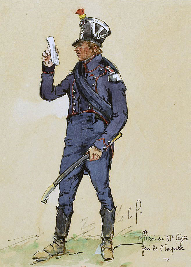 Officer of the French 31st Light Infantry: Battle of the Passage of the Douro on 12th May 1809 in the Peninsular War