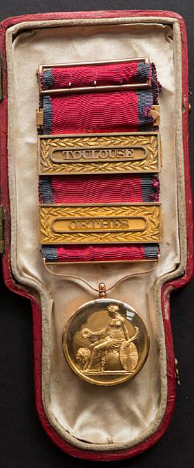 Army Gold Medal for the Nivelle presented to Major Frederick Desbarres of the 2/87th Regiment: Battle of the Nivelle on 10th November 1813 during the Peninsular War