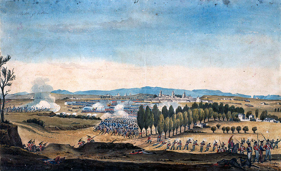 Battle of Vitoria on 21st June 1813 during the Peninsular War