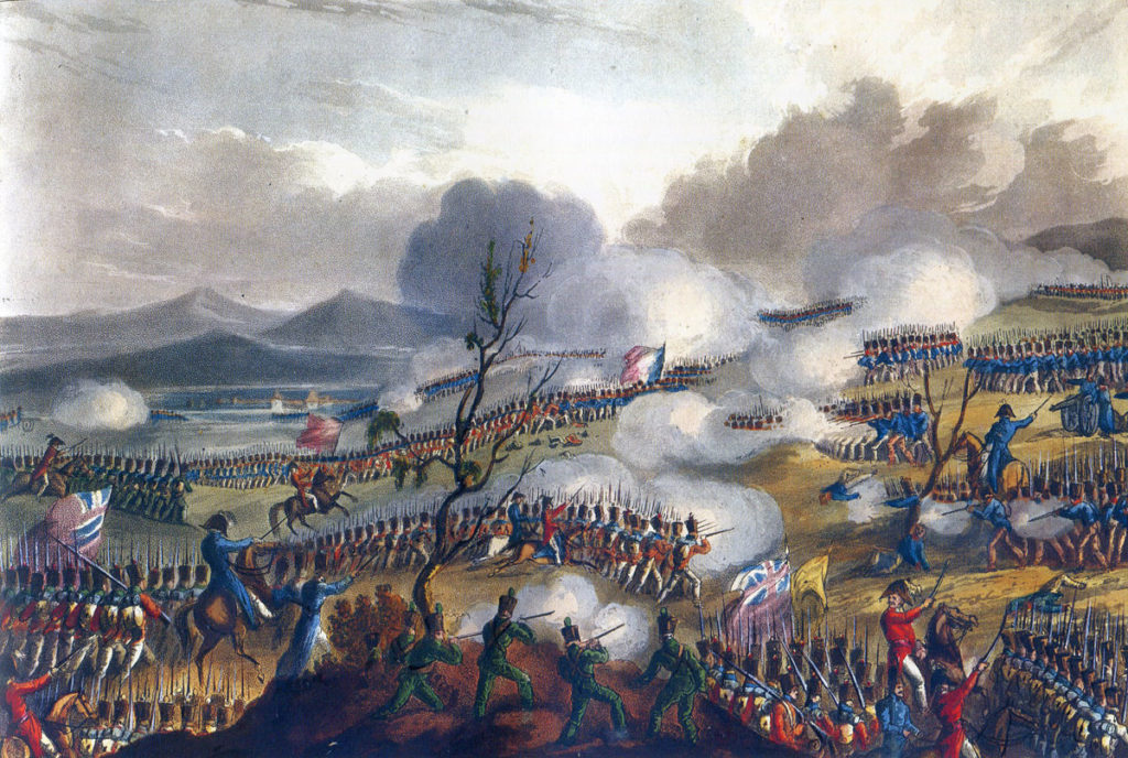 Battle of the Nivelle on 10th November 1813 during the Peninsular War: picture by J.J. Jenkins