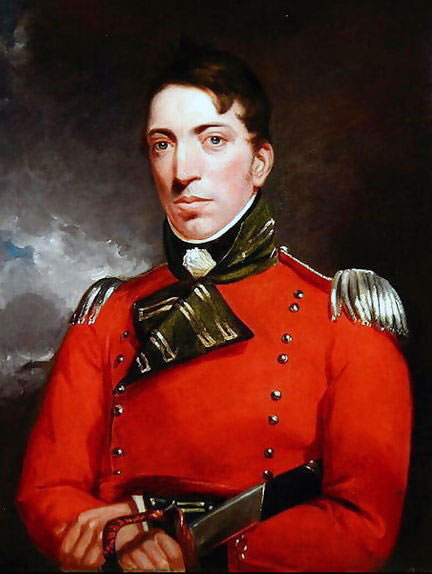 Captain Richard Gubbins of the 85th Light Infantry: Battle of the Nive fought between 9th and 13th December 1813 in the Peninsular War: picture by John Constable