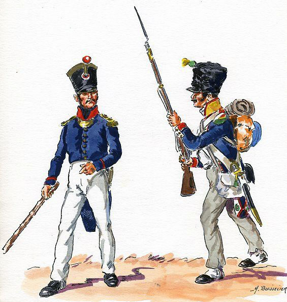 French 34th Regiment of the Line: Battle of the Nivelle on 10th November 1813 during the Peninsular War
