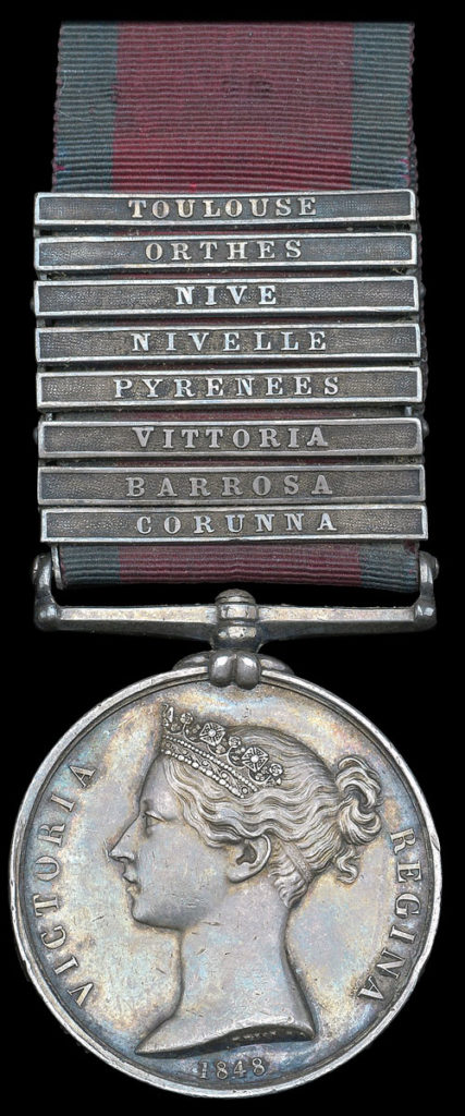 General Service Medal with clasp for the Battle of the Nivelle on 10th November 1813 during the Peninsular War