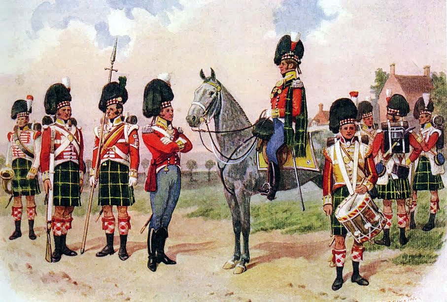 92nd Gordon Highlanders: Battle of the Nive fought between 9th and 13th December 1813 in the Peninsular War