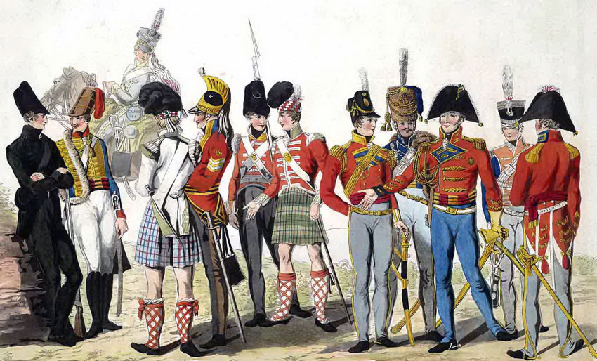 British Regiments: Battle of the Nive fought between 9th and 13th December 1813 in the Peninsular War