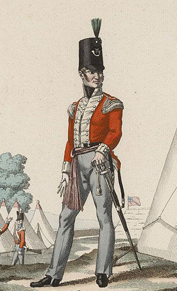 Officer of the 52nd Light Infantry: Battle of the Nivelle on 10th November 1813 during the Peninsular War