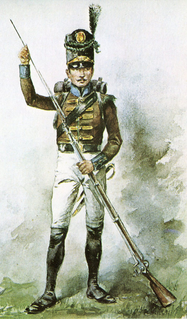 Portuguese Caçadore: Battle of the Nive fought between 9th and 13th December 1813 in the Peninsular War