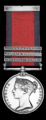 Military General Service Medal 1848 with the clasp for the Battle of Fuentes de Oñoro 3rd to 5th May 1811 in the Peninsular War