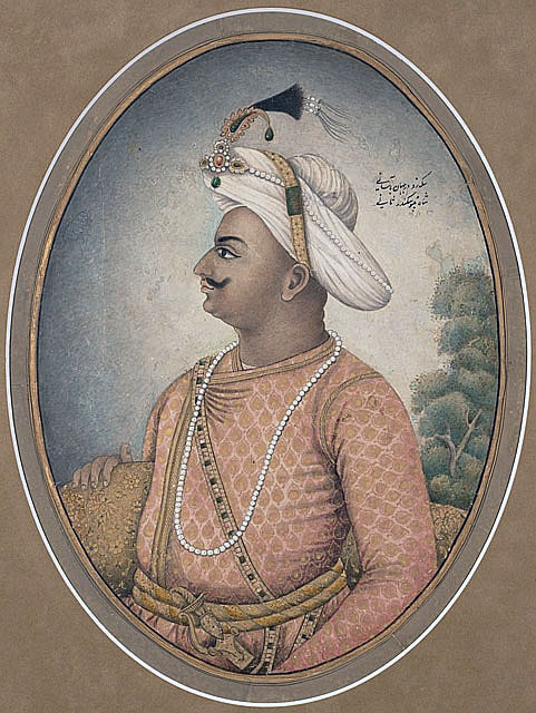 Tipu Sultan, Ruler of Mysore and Commander of the garrison at the Storming of Seringapatam on 4th May 1799 in the Fourth Mysorean War