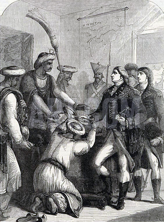 The Great Mogul gives Robert Clive dominion over Bengal, Orissa and Bahar: Battle of Plassey on 23rd June 1757 in the Anglo-French Wars in India