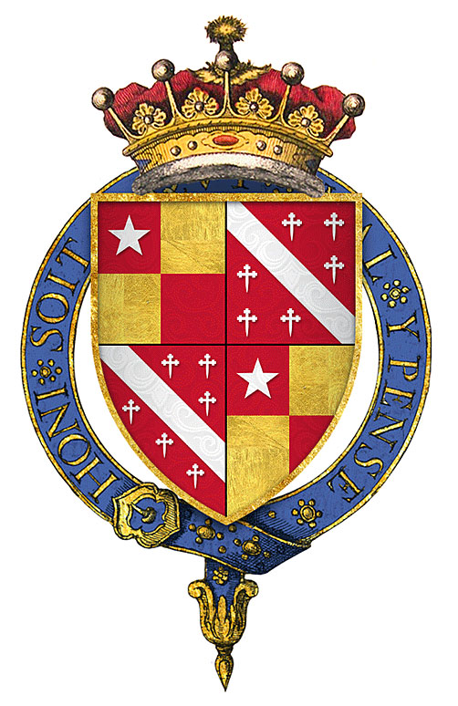 Arms of John de Vere, Earl of Oxford: Battle of Bosworth Field on 22nd August 1485 in the Wars of the Roses