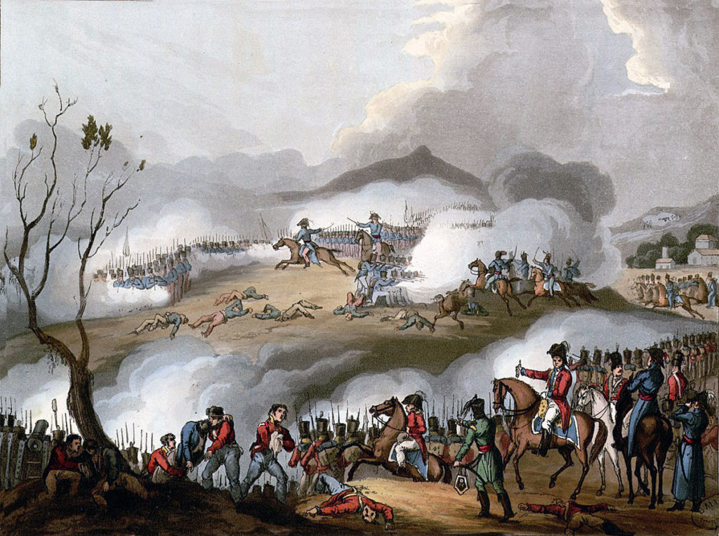 Battle of Orthez on 27th February 1814 in the Peninsular War