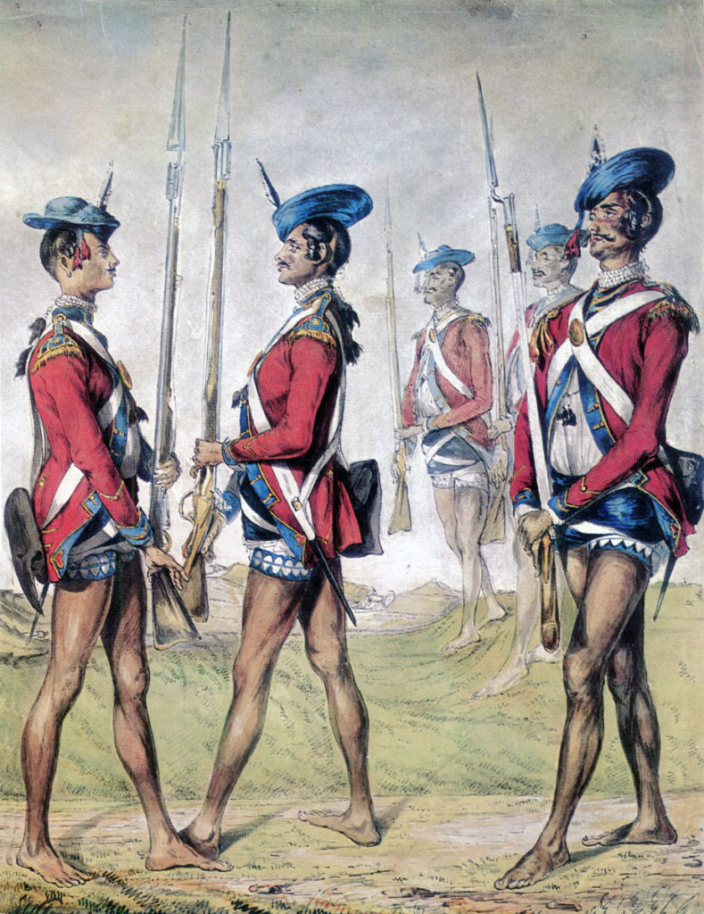 Bengal Army Sepoys: Storming of Seringapatam on 4th May 1799 in the Fourth Mysore War
