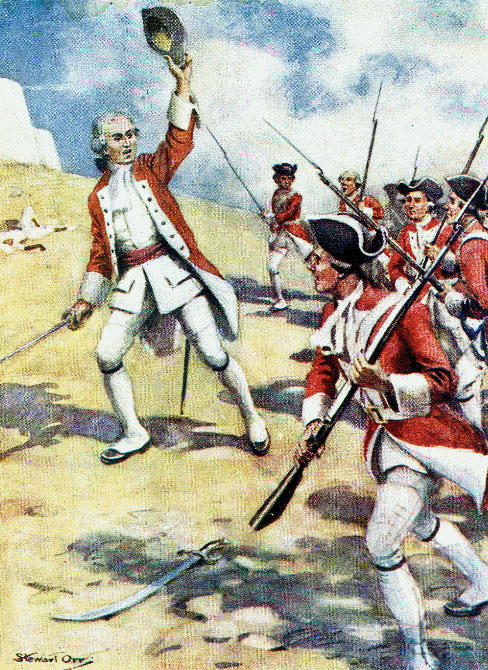 Clive leading the assault on the besiegers: Siege of Arcot 31st August to 15th November 1751 in the War in India
