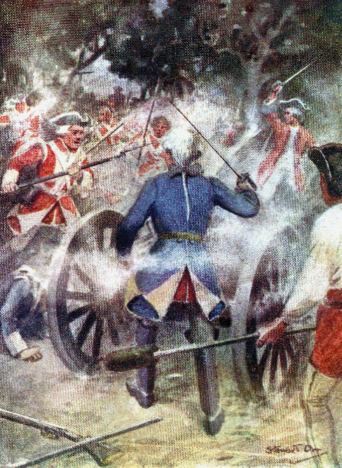 Clive at the Battle of Kaveripauk on 23rd February 1752 in the Anglo-French Wars in India (Second Carnatic War)