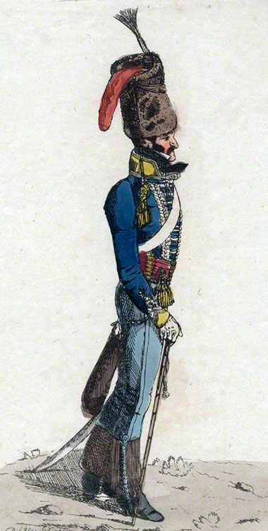 George Quentin, Colonel of the 10th Prince of Wales's Own Hussars at the Battle of Toulouse on 10th April 1814 in the Peninsular War