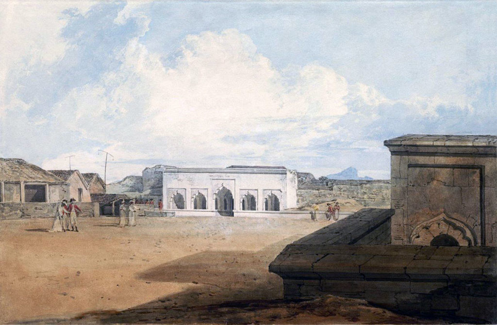 Tipu Sultan's palace in the Seringapatan fortress: Storming of Seringapatam on 4th May 1799 in the Fourth Mysore War: picture by William Mallord Turner