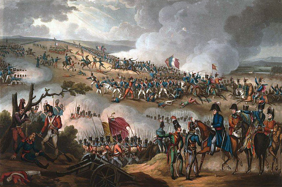 Battle of Orthez on 27th February 1814 in the Peninsular War: picture by William Heath