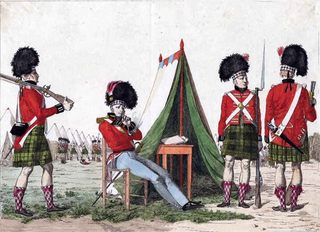 42nd Highlanders, Black Watch: Battle of Toulouse on 10th April 1814 in the Peninsular War