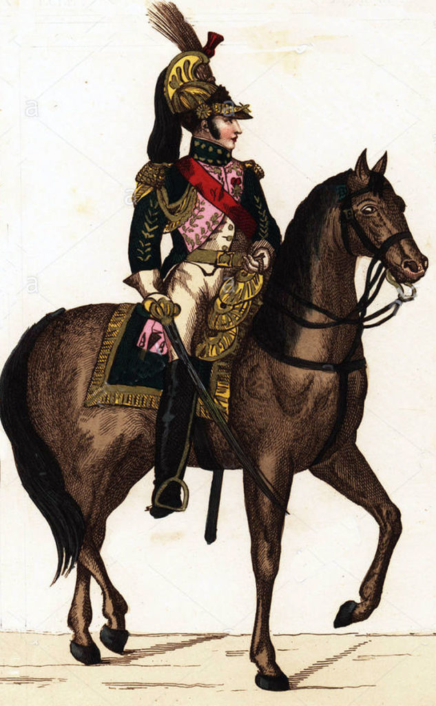 French General of Dragoons: Battle of Toulouse on 10th April 1814 in the Peninsular War