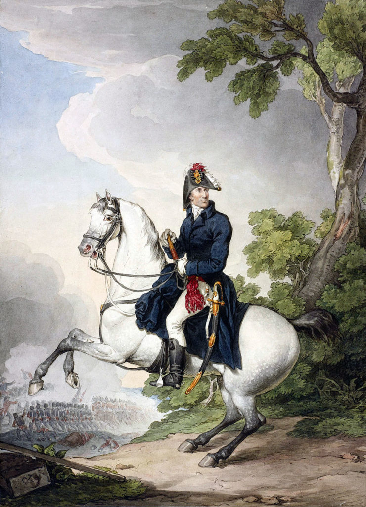 The Duke of Wellington: Battle of Toulouse on 10th April 1814 in the Peninsular War: picture by Denis Dighton