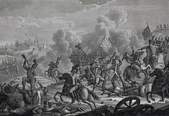 Battle of Vimeiro  on 21st August 1808 in the Peninsular War: a Portuguese print