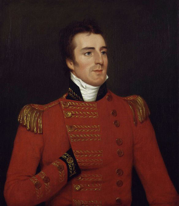 Sir Arthur Wellesley: Battle of Vimeiro on 21st August 1808 in the Peninsular War: picture by Robert Home
