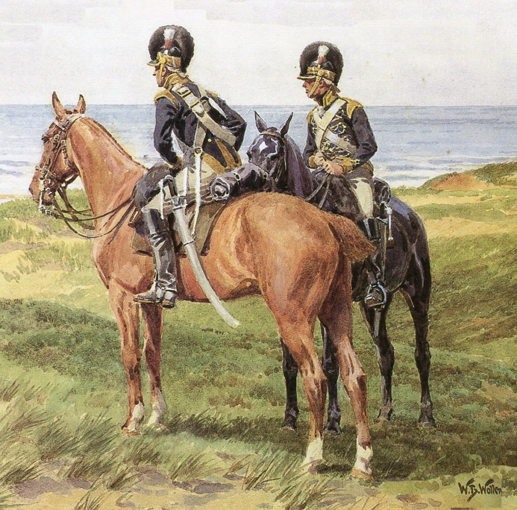 British 20th Light Dragoons: Battle of Vimeiro on 21st August 1808 in the Peninsular War: picture by Williams Barnes Wollen
