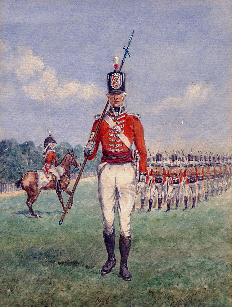 2nd Queen's Regiment: Battle of Vimeiro  on 21st August 1808 in the Peninsular War: picture by Reginald Wymer