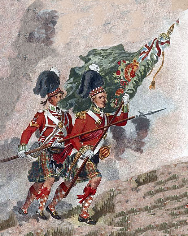 79th Cameron Highlanders: Battle of Toulouse on 10th April 1814 in the Peninsular War