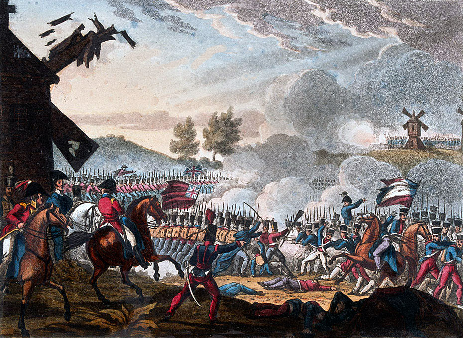 Attack of the British 9th Regiment at the Battle of Roliça on 17th August 1808 in the Peninsular War