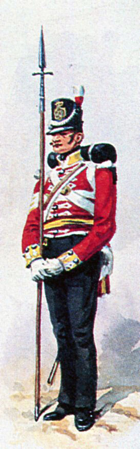 Sergeant 38th Regiment: Sortie from Bayonne on 14th April 1814 in the Peninsular War: picture by Richard Simkin