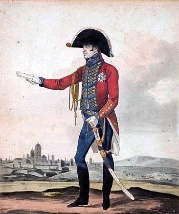 Major General Sir Arthur Wellesley: Battle of Roliça on 17th August 1808 in the Peninsular War