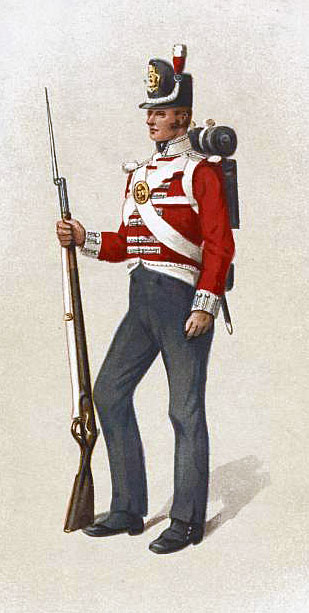 British Infantryman: Attack on Burgos Castle between 19th September and 25th October 1812 in the Peninsular War