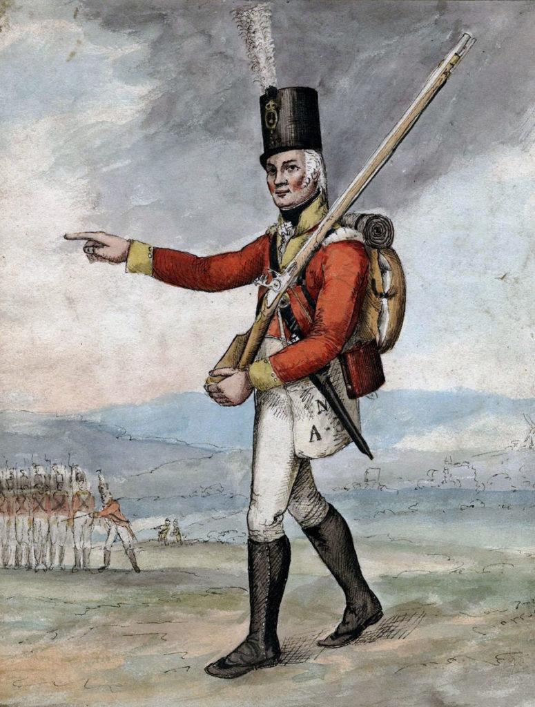British infantryman: Battle of Vimeiro on 21st August 1808 in the Peninsular War