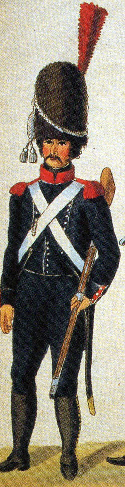 Carabinier of the French 5th Light Regiment: Sortie from Bayonne on 14th April 1814 in the Peninsular War