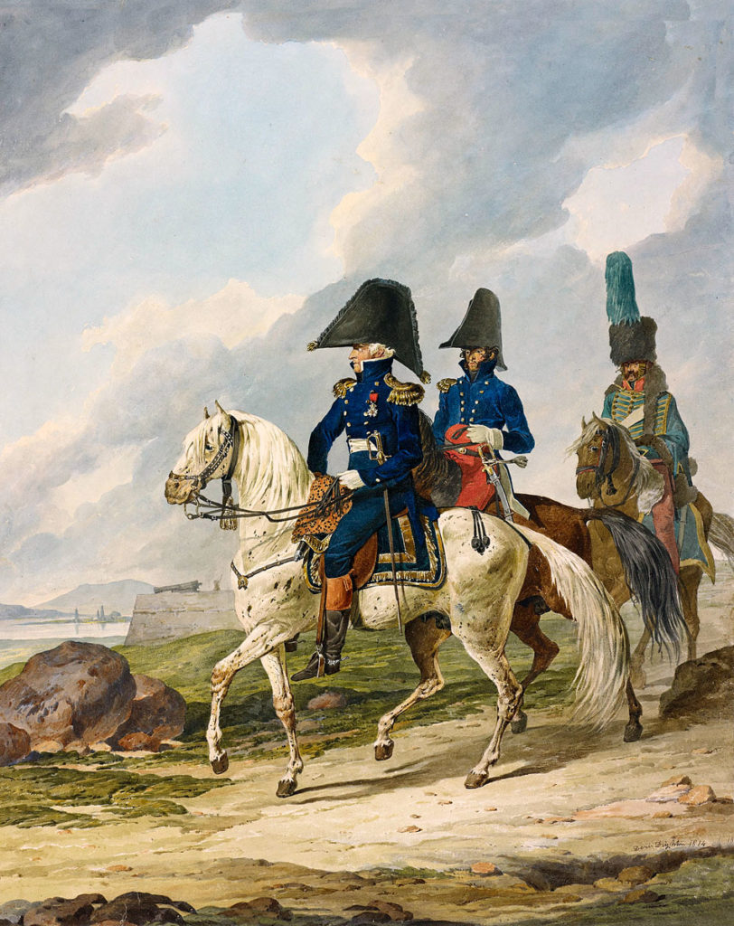 General Pierre Thouvenot, French Governor of Bayonne at the Sortie from Bayonne on 14th April 1814 in the Peninsular War: picture by Denis Dighton